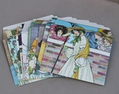 Mother Goose Envelopes set of 10 recycled, upcycled