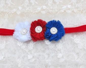 Girls Infant Baby Headband Chiffon Flower Puff Toddler Elastic Velvet Headband