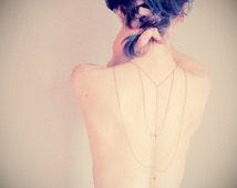 Romance cheyenne back body chain harness ( triangle, cheyenne, wild, brass antiqued, womens, winter acessory ) 18