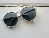 Vintage 1980's White French Sunglasses