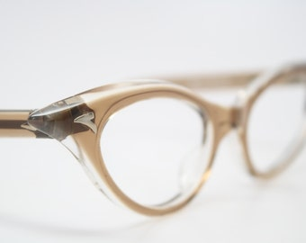Vintage cat eye glasses Brown cateye eyeglasses NOS
