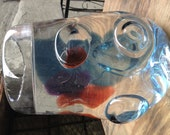 For Lolita, Blue red purple chunk Beta bowl with lenses