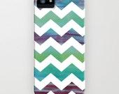 Geometric Phone Case - Rainbow Chevron Watercolor Painting - Designer iPhone Samsung Case