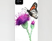 Floral Phone Case Butterfly - Milk Thistle - Cell Phone Cover - Designer iPhone Samsung Case