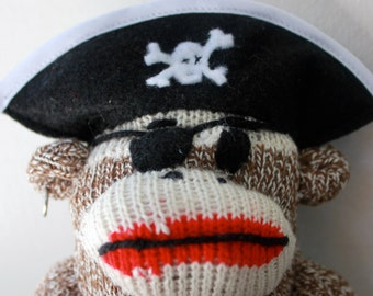 Little Pirate Sock Monkey Plush