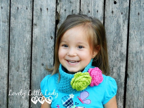 Crochet Earwarmer, Neckwarmer, Headband, Headwrap with Flower Accent -- Fun, Fashionable, and Versatile