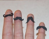 Black Moustache Party Confetti 5 Styles - 100 Pieces