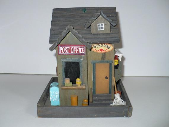 Vintage Wood Bird Feeder U.S.A. Post Office Man Cave