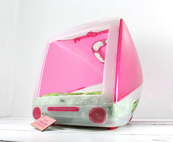 """FREE SHIPPING - Upcycled Apple Computer Pet Bed - iMac - """"Think different"""""""