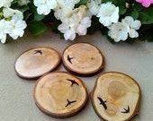 Graphic Wood Coasters X 4