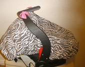 Baby Car Seat Cover/Canopy (with elastic) - Zebra