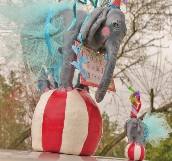 Circus elephant cake topper - photo#23