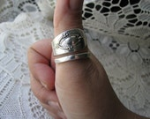 """Spoon Ring - Sterling Silver - Unisex - """"Mt Vernon"""" - Silver Spoons - Rogers, Lunt, and Bowlen, 1905"""