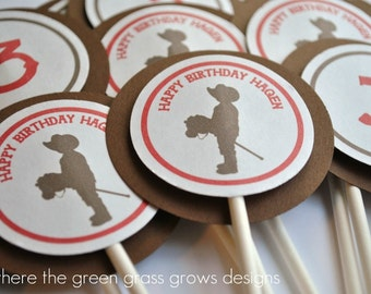 Cowboy Cupcake Toppers cowboy party cowboy birthday cowboy