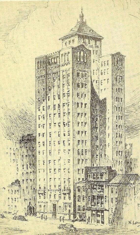 Allerton House NEW YORK Vintage Postcard 39th Street