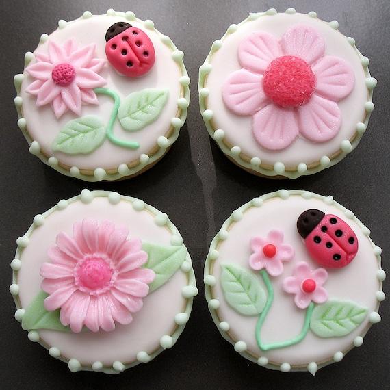 Lady Bugs & Daisies Sandwich Cookies - 1 dozen
