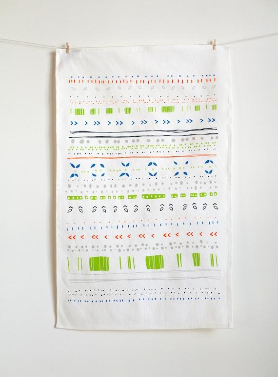 Neon Summer Tea Towel // Cool edition