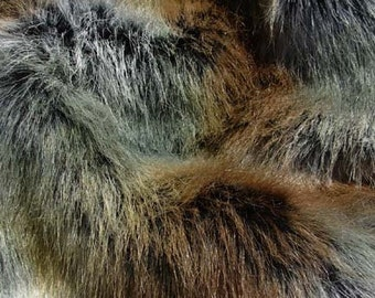 Wolf Faux Fur Craft Size