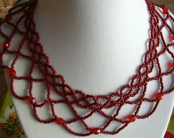 Wait For Me - Netted Necklace (Victorian Edwardian Goth Vampire)