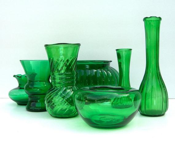 Emerald Green Vase Set