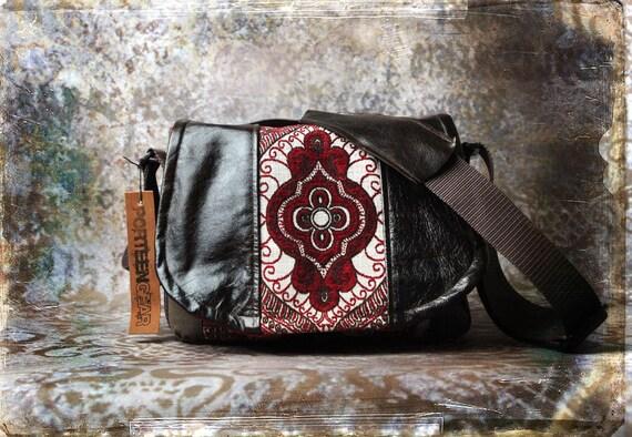Leather Camera Bag Medallion -  Tapestry Medium DSLR - IN STOCK