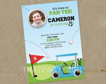 Golf Birthday PAR-TEE Party Invitations - DIY U Print