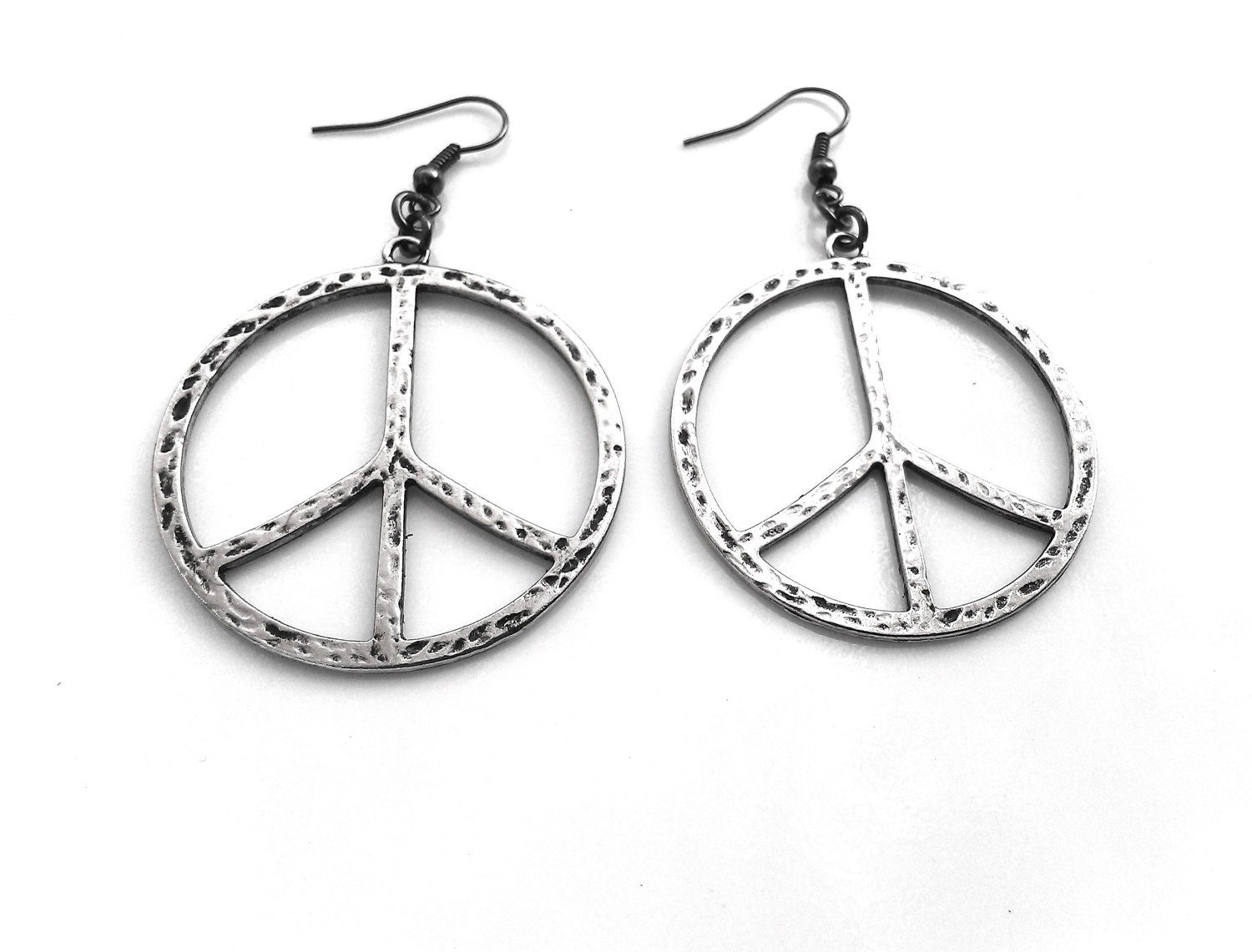 Large Peace Sign Earrings Women Jewelry Women by ...
