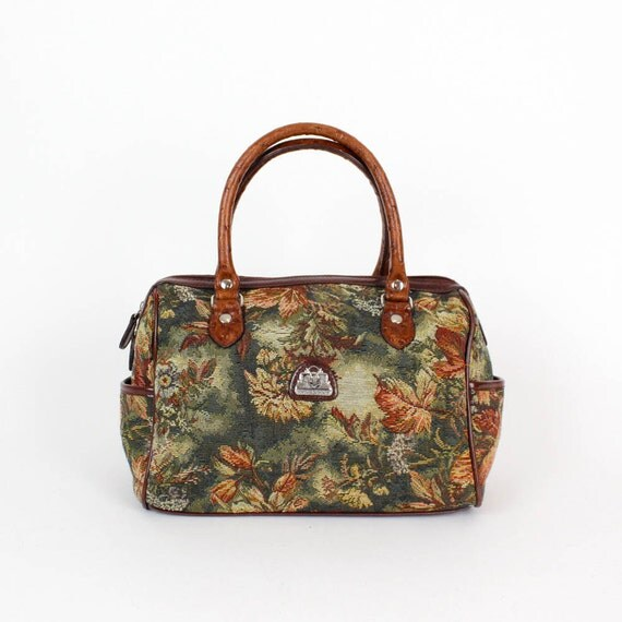 tapestry speedy bag / rococo fabric bag
