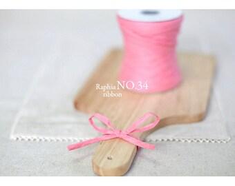 Raffia Ribbon - Pink (swp0160)