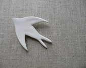White Swallow Brooch