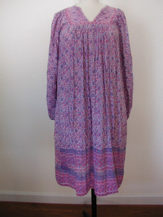 SALE ENDS WEDNESDAY: Indian Cotton Gauze Boho Hippie Dress