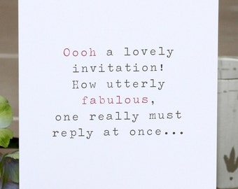 RSVP Card - 'A Lovely Invitation'