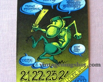 RICK GRIFFIN 1968  Original Moody Blues Concert Postcard  Fillmore BG 146 San Francisco Sixties