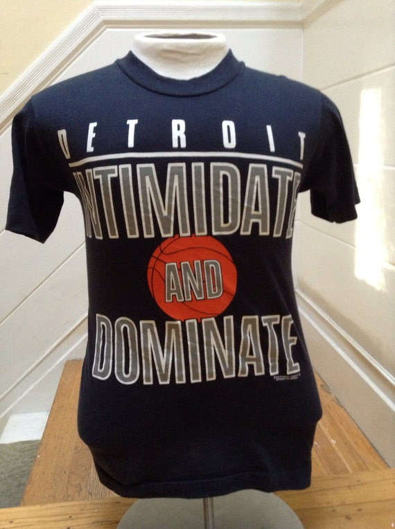Vintage detroit basketball t shirt for Retro basketball t shirts