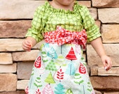 Oh Tinsel Tree... Dress and Sash -Ready to Ship in 12mo ONLY