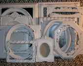 RESERVED THEONLYLIZA 13 Shabby Chic Chippy White Picture Frames