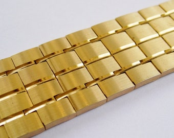 Vintage 60s Bracelet Napier Designer Mid Century Gold Modernist Link Panel Bracelet