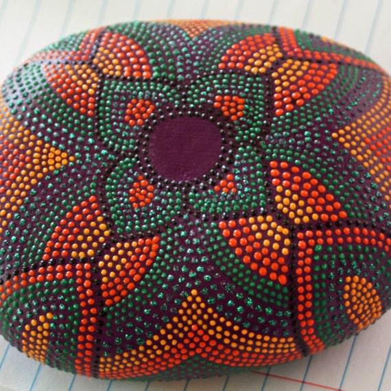 Art Deco Hand Painted Dot Rock