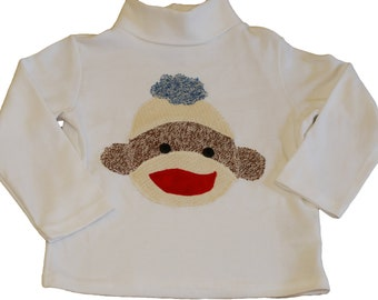 Sock Monkey Turtleneck Shirt - Boys 24 Month (2T)