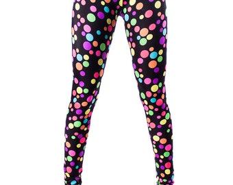 DISCOUNTED Rainbow Polka Dot Leggings