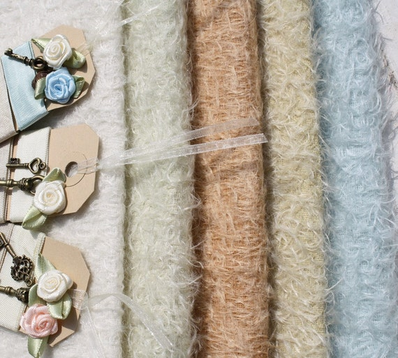 SUMMER OFFER...Hand dyed pastel Mohair pack plus free ribbon and decoration.