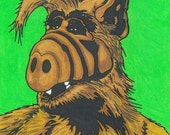 "80s Pop Portrait Art PRINT: ""Alf"""