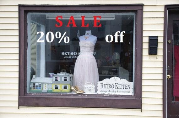 Sale sign / discount sale / vinyl sign / sale sign / percent sale / store sale / SALE % signage / vinyl letters