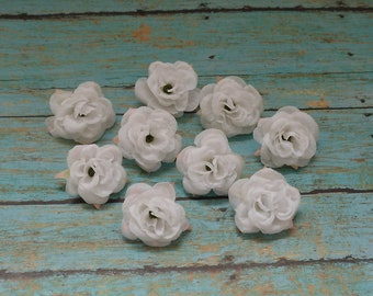 Small flowers for crafts crafting 9 white mini roses small flowers artificial silk mightylinksfo