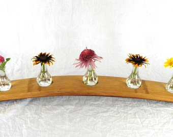 "CANDLE HOLDER - ""Daisy"" - Wine Barrel Candle / Vase Holder -100% recycled"
