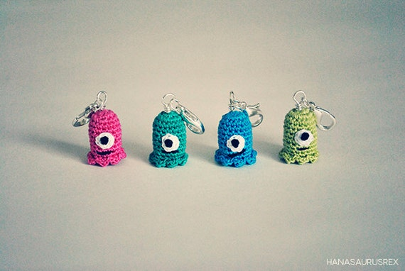 Stitch Markers (Charms) Set // Crochet // Crocheted Monsters (4)