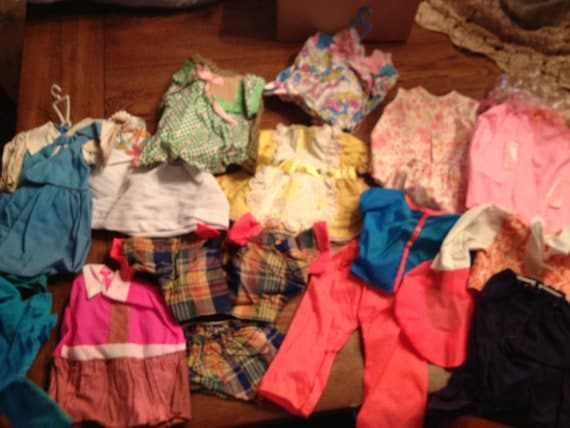 Large Assortment of Vintage Handmade Doll Clothes