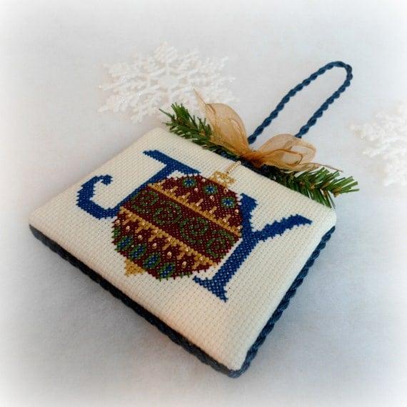 Joy Ornament, Christmas Tree Ornament Decoration