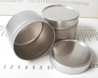 100ml round tin with solid lids, small tin box, small storage (a set of 20 tins)