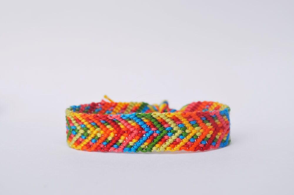double chevron friendship bracelet pattern